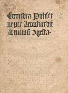 Gracchus et Poliscena : comoedia.