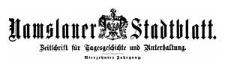 Namslauer Stadtblatt. Zeitschrift für Tagesgeschichte und Unterhaltung. 1885-11-03 Jg. 14 Nr 86