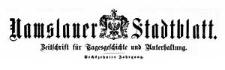 Namslauer Stadtblatt. Zeitschrift für Tagesgeschichte und Unterhaltung. 1887-01-15 Jg. 16 Nr 5