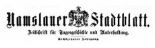 Namslauer Stadtblatt. Zeitschrift für Tagesgeschichte und Unterhaltung. 1887-12-20 Jg. 16 Nr 100