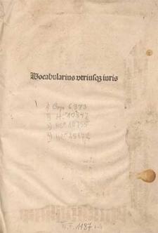 Vocabularius iuris utriusque