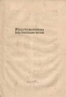 Margarita decreti seu tabula Martiniana