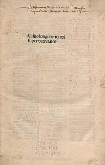 Casus longi super quinque libros Decretalium