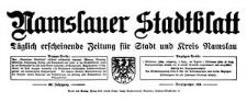Namslauer Stadtblatt. Täglich erscheinende Zeitung für Stadt und Kreis Namslau 1940-11-23/24 Jg. 68 Nr 276