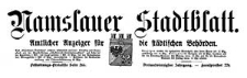 Namslauer Stadtblatt. Amtlicher Anzeiger für die städtischen Behörden. 1914-01-20 Jg. 43 Nr 6