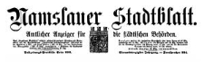 Namslauer Stadtblatt. Amtlicher Anzeiger für die städtischen Behörden. 1916-10-28 Jg. 44[!] Nr 84