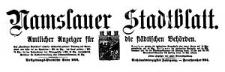 Namslauer Stadtblatt. Amtlicher Anzeiger für die städtischen Behörden. 1918-09-28 Jg. 46 Nr 75