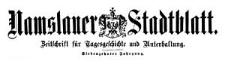 Namslauer Stadtblatt. Zeitschrift für Tagesgeschichte und Unterhaltung. 1888-11-24 Jg. 17 Nr 92
