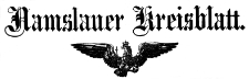 Namslauer Kreisblatt 1890-01-04 Jg.45 Nr 001