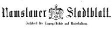 Namslauer Stadtblatt 1878-11-09 [Jg. 7] Nr 88