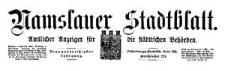 Namslauer Stadtblatt. Amtlicher Anzeiger für die städtischen Behörden. 1910-01-08 Jg. 39 Nr 2