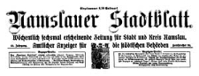 Namslauer Stadtblatt. Wöchentlich sechsmal erscheinende Zeitung für Stadt und Kreis Namslau. Amtlicher Anzeiger für die städtischen Behörden. 1924-06-18 Jg.52 Nr 64