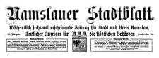 Namslauer Stadtblatt. Wöchentlich sechsmal erscheinende Zeitung für Stadt und Kreis Namslau. Amtlicher Anzeiger für die städtischen Behörden. 1924-07-12 Jg.52 Nr 85