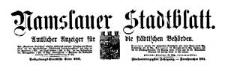 Namslauer Stadtblatt. Amtlicher Anzeiger für die städtischen Behörden. 1917-08-04 Jg. 45 Nr 60
