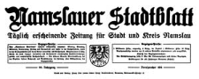 Namslauer Stadtblatt. Täglich erscheinende Zeitung für Stadt und Kreis Namslau 1938-09-24/25 Jg. 66 Nr 224