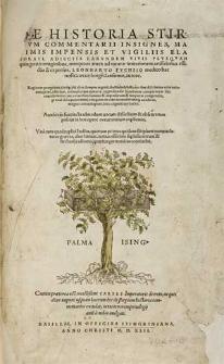 De historia stirpium commentarii insignes : maximis impensis et vigiliis elaborati, adiectis earundem vivis plusquam quingentis imaginibus [...] / Leonharto Fuchsio [...] autore [...].