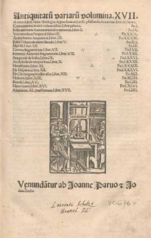 Antiquitatu[m] variaru[m] volumina XVII [...]