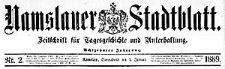 Namslauer Stadtblatt. Zeitschrift für Tagesgeschichte und Unterhaltung 1889-11-02 Jg.18 Nr 88