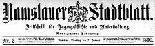 Namslauer Stadtblatt. Zeitschrift für Tagesgeschichte und Unterhaltung 1890-01-05 Jg.19 Nr 1