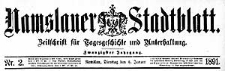 Namslauer Stadtblatt. Zeitschrift für Tagesgeschichte und Unterhaltung 1891-11-24 Jg.20 Nr 92