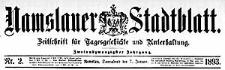 Namslauer Stadtblatt. Zeitschrift für Tagesgeschichte und Unterhaltung 1892-11-01 Jg.21 Nr 86