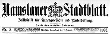 Namslauer Stadtblatt. Zeitschrift für Tagesgeschichte und Unterhaltung 1892-12-03 Jg.21 Nr 95