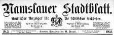 Namslauer Stadtblatt. Amtlicher Anzeiger für die städtischen Behörden. 1902-11-08 Jg.31 Nr 87