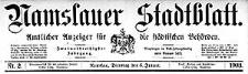 Namslauer Stadtblatt. Amtlicher Anzeiger für die städtischen Behörden. 1903-11-03 Jg.32 Nr 86