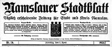 Namslauer Stadtblatt. Täglich erscheinende Zeitung für Stadt und Kreis Namslau.1934-11-14 Jg.62 Nr 266