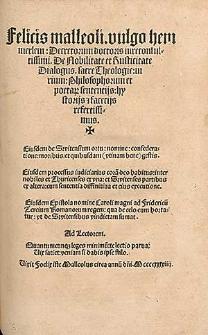 De nobilitate et rusticitate dialogus et alia opuscula / Ed. Sebastian Brant.