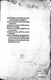 Fasciculus medicinae