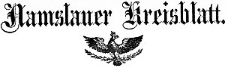 Namslauer Kreisblatt 1878-01-03 [Jg. 33] Nr 01