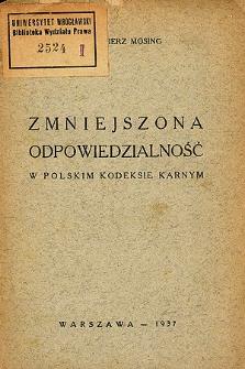 Zmniejszona odpowiedzialność w polskim kodeksie karnym