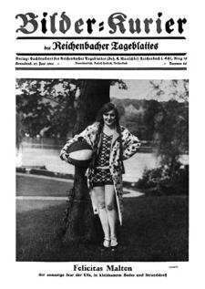Bilder-Kurier der Reichenbacher Tageblattes 1928-06-23 Nr 26