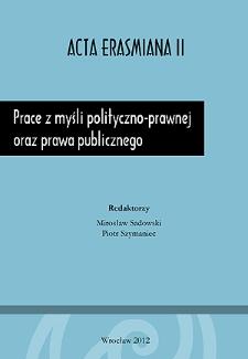 Prace z myśli polityczno-prawnej oraz prawa publicznego