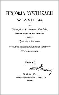 Historja cywilizacji w Anglji. T. 2