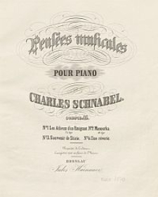 Mazourka [z cyklu] Pensée musicales pour piano. Ouvre 46. Nr 2