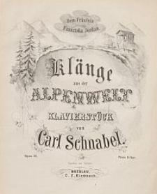 Klänge aus der Alpenwelt. Klavierstück. Op. 92.