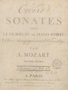 Trois sonates pour le clavecin ou piano-forté avec accompagnement de violon obligé : Liv. 1