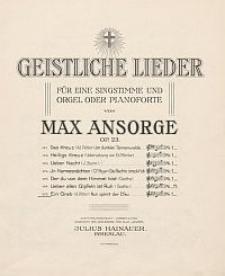Ein Grab [z cyklu:] Geistliche Lieder : für eine Singstimme und Orgel oder Pianoforte : Op. 23. No. 7