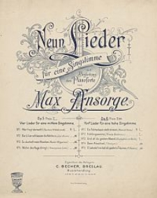Fünf Lieder für eine hohe Singstimme [z cyklu:] Neun Lieder : für eine Singstimme mit Begleitung des Pianoforte : Op. 6