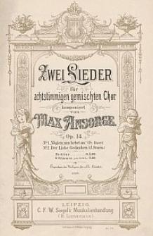 Zwei Lieder : für achtstimmigen gemischten Chor : Op. 14