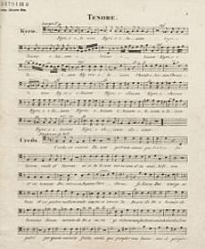 Missa quadragesimalis a canto, alto, tenore, basso et organo obligato, corni di bassetti, fagotti, corni et 3 tromboni ad libitum
