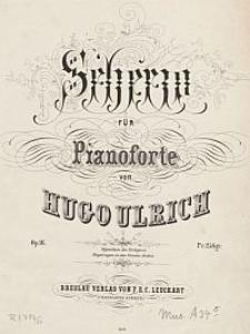 Scherzo für Pianoforte [...] Op. 16