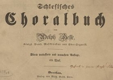 Schlesisches Choralbuch. Op. 25