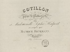 Cotillon pour le pianoforte [...]