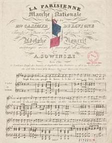 La Parisienne. Marche nationale. Paroles de Casimir Delavigne [...]