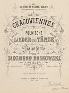 Cracoviennes. Polnische Lieder und Tänze für das Pianoforte [...] op. 2. Heft 2, V-VIII