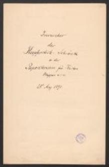 Inventar der Kupferstich-Schränke u[nd] des Repositorium für Kästen, Mappen u.s.w. 28. Aug. 1891