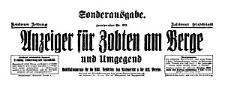 Anzeiger für Zobten am Berge und Umgegend. Sonderausgabe 1934-08-18